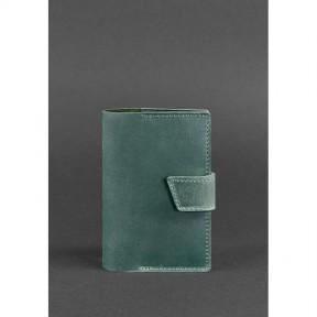 blanknote кожаная обложка для паспорта 4.0 зеленая