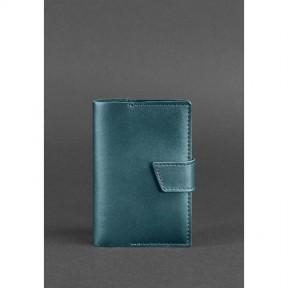 blanknote женская кожаная обложка для паспорта 4.0 зеленая