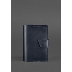 blanknote кожаная обложка для паспорта 4.0 темно-синяя