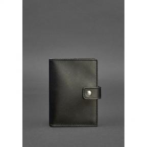 blanknote кожаная обложка для паспорта 5.0 (с окошком) черная