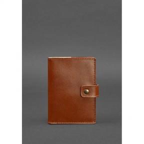 blanknote кожаная обложка для паспорта 5.0 (с окошком) светло-коричневая