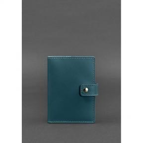 blanknote кожаная обложка для паспорта 5.0 (с окошком) зеленая