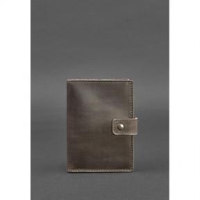 blanknote кожаная обложка для паспорта 5.0 (с окошком) темно-коричневая