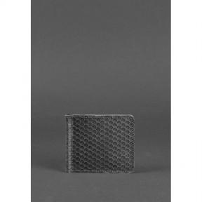 blanknote мужское кожаное портмоне 1.0 зажим для денег черный карбон