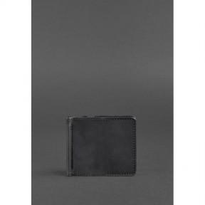 blanknote мужское кожаное портмоне черное 1.0 зажим для денег crazy horse