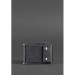 blanknote мужское кожаное портмоне черное 10.0 зажим для денег