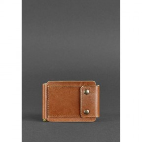 blanknote мужское кожаное портмоне светло-коричневое 10.0 зажим для денег