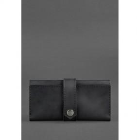 blanknote кожаное женское портмоне 3.0 черное crazy horse