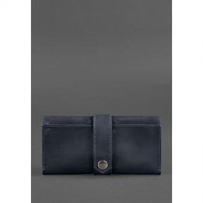 blanknote кожаное женское портмоне 3.0 синее crazy horse