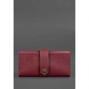 blanknote кожаное женское портмоне 3.0 бордовое krast