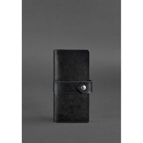 blanknote кожаное женское портмоне 3.1 черное blackwood