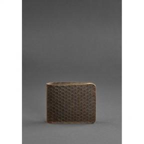blanknote мужское кожаное портмоне 4.1 (4 кармана) темно-коричневое карбон