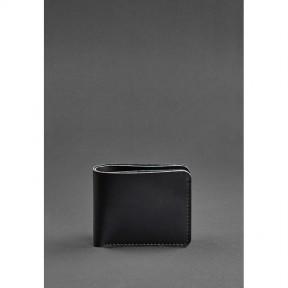 blanknote мужское кожаное портмоне 4.1 (4 кармана) угольно-черное
