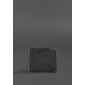 blanknote мужское кожаное портмоне 4.1 (4 кармана) черное crazy horse