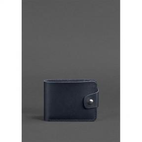 blanknote кожаное портмоне 4.3 темно-синее