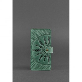 blanknote кожаное женское зеленое портмоне 7.0 инди