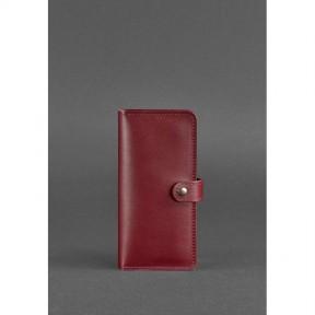 blanknote кожаное женское портмоне 7.0 бордовое
