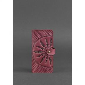 blanknote кожаное женское бордовое портмоне 7.0 инди