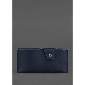 blanknote кожаное портмоне-купюрник 8.0 темно-синее