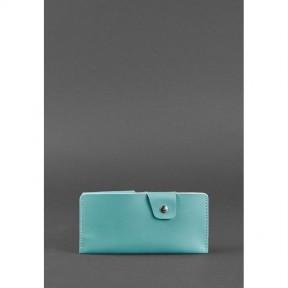 blanknote женское кожаное портмоне-купюрник 8.0 бирюзовое