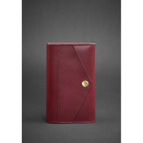 blanknote женский кожаный блокнот (софт-бук) 2.0 бордовый