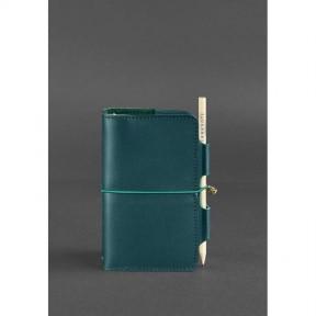 blanknote женский кожаный блокнот (софт-бук) 3.0 зеленый