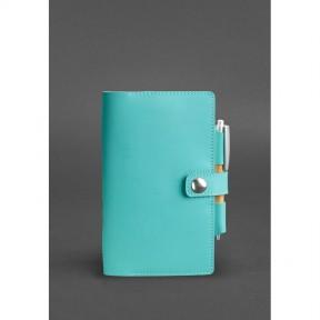 blanknote женский кожаный блокнот (софт-бук) 4.0 бирюзовый
