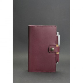 blanknote женский кожаный  блокнот (софт-бук) 4.0 бордовый
