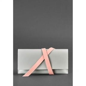 blanknote кожаный женский тревел-кейс voyager 1.0 серый с розовым