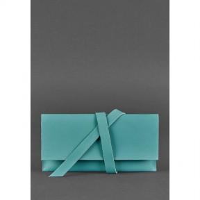 blanknote кожаный женский тревел-кейс voyager 1.0 бирюзовый