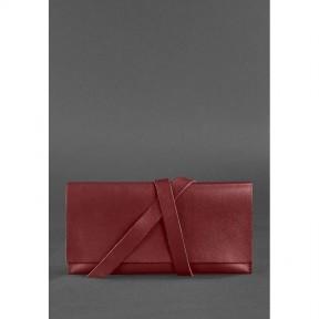 blanknote кожаный женский тревел-кейс voyager 1.0 krast бордовый