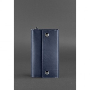 blanknote кожаный клатч-органайзер (тревел-кейс) 5.0 темно-синий