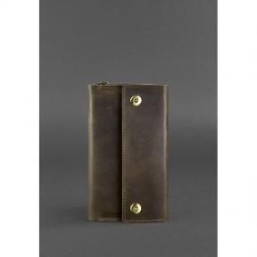 blanknote кожаный клатч-органайзер (тревел-кейс) 5.0 темно-коричневый