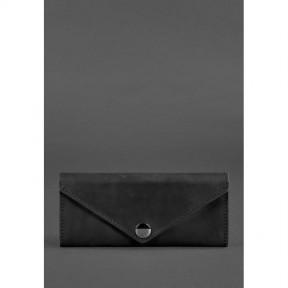 blanknote женский кожаный кошелек керри 1.0 черный crazy horse
