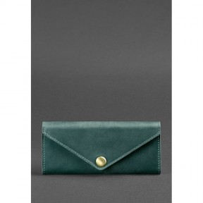 blanknote женский кожаный кошелек керри 1.0 зеленый crazy horse