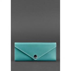 blanknote женский кожаный кошелек керри 1.0 бирюзовый
