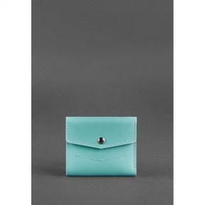 blanknote женский кожаный кошелек 2.1 бирюзовый