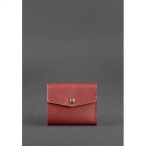 blanknote женский кожаный кошелек 2.1 бордовый krast