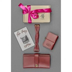 blanknote женский подарочный набор кожаных аксессуаров париж