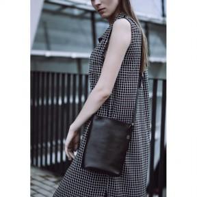 blanknote женская кожаная сумка-кроссбоди черная blank - black point