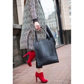 blanknote кожаная женская сумка шоппер бэтси черная