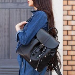 blanknote кожаный женский рюкзак олсен черный