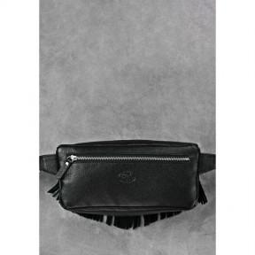 blanknote кожаная женская сумка на пояс spirit черная