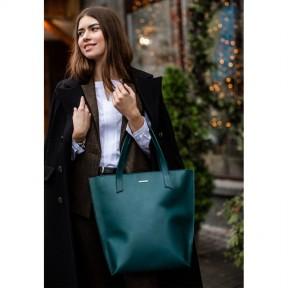 blanknote кожаная женская сумка шоппер d.d. зеленая