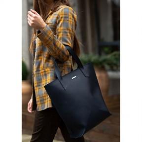 blanknote кожаная женская сумка шоппер d.d. темно-синяя