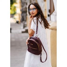 blanknote кожаный женский мини-рюкзак kylie марсала