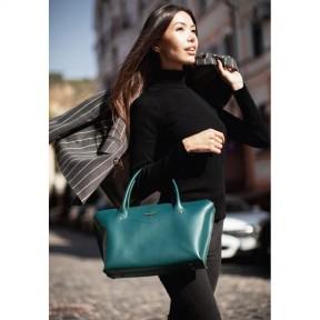 blanknote женская кожаная сумка midi зеленая