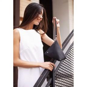 blanknote кожаная женская сумка-косметичка пирамида черная