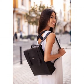 blanknote женский кожаный черный рюкзак blackwood