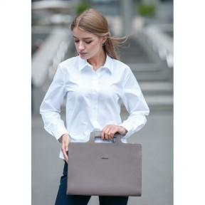 blanknote женская кожаная сумка для ноутбука и документов темно-бежевая
